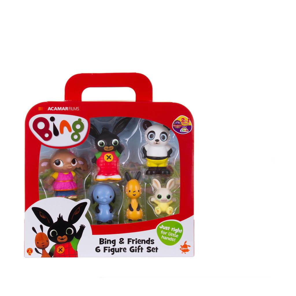 Bing  koffer met 6 speelfiguren, Multi