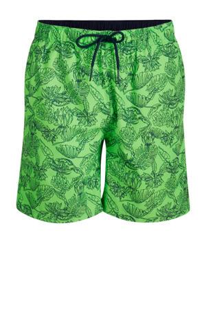 zwemshort Joris met all over print groen