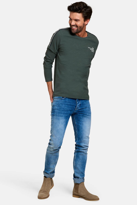 Refill T-shirt met tekst army green, Army Green