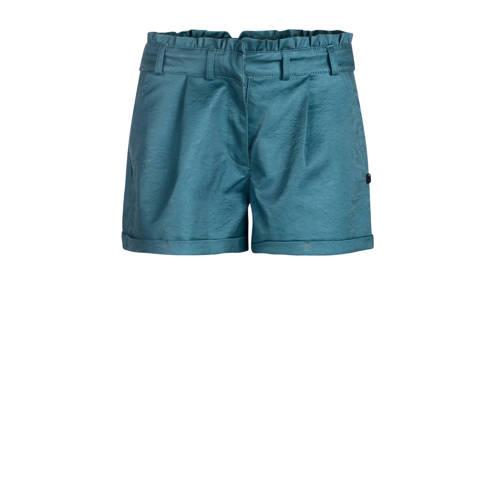 imitatieleren regular fit short blauw