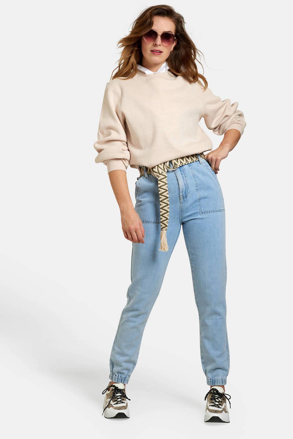 Eksept high waist slim fit jeans lichtblauw, Lichtblauw