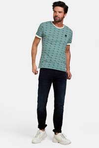 Refill by Shoeby gestreept T-shirt groen/ecru, Groen/ecru