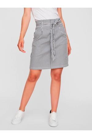 gestreepte rok wit/donkerblauw
