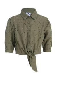 Jill & Mitch by Shoeby blouse Twinkle donkergroen, Donkergroen