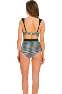 Sapph high waist bikinibroekje met all over print Eva zwart/wit, Zwart/wit