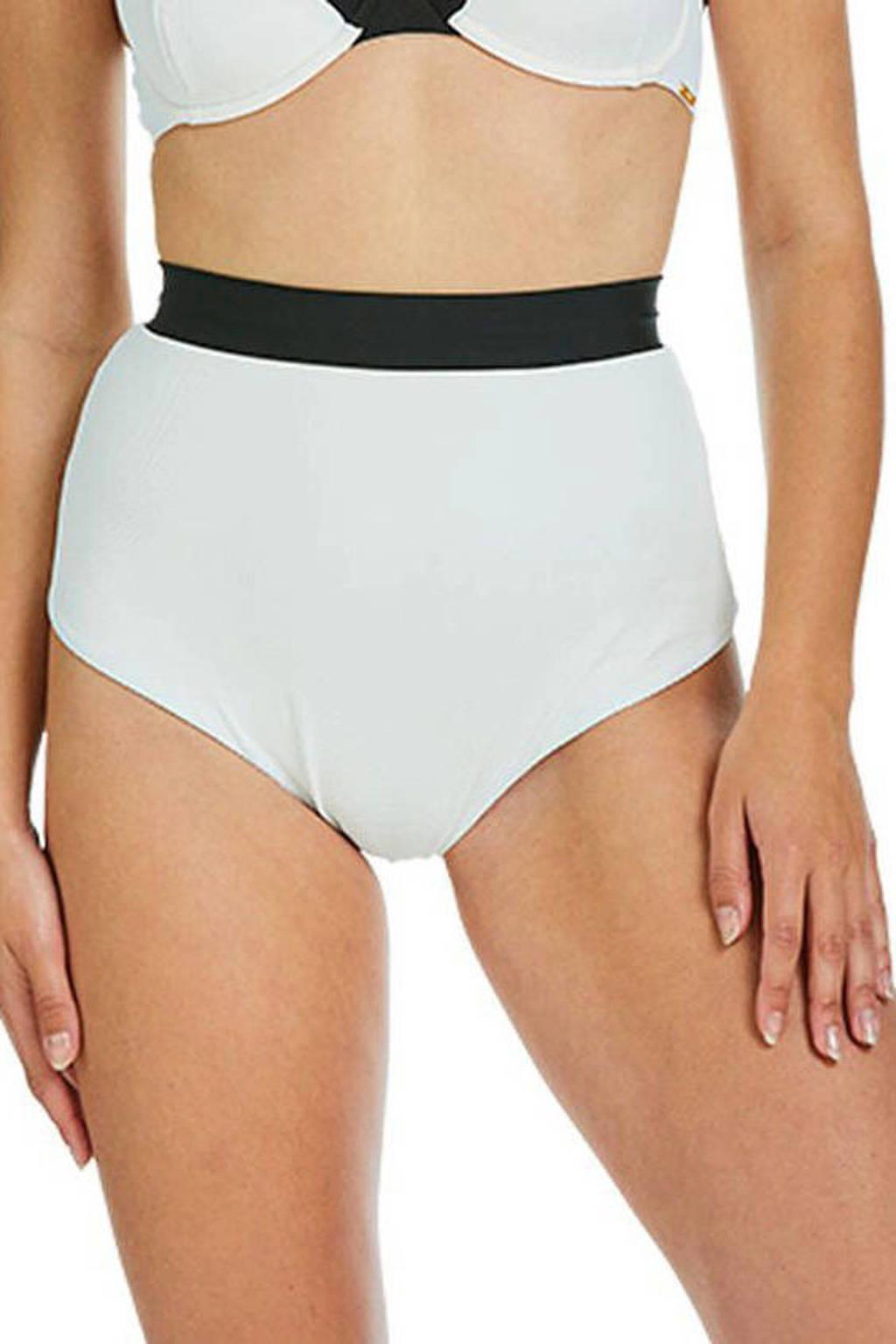 Sapph high waist bikinibroekje Eva wit/zwart, Wit/zwart