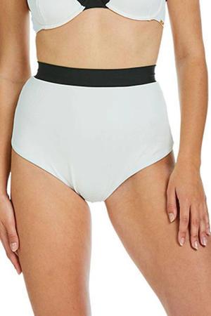 high waist bikinibroekje Eva wit/zwart