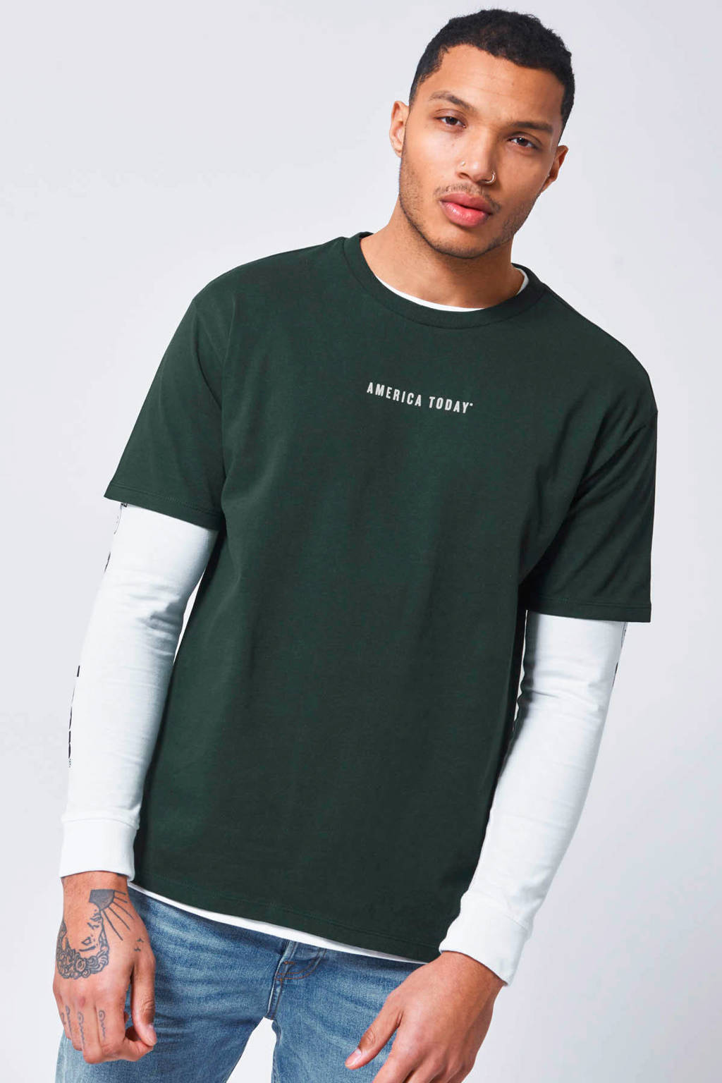 America Today T-shirt green, Green