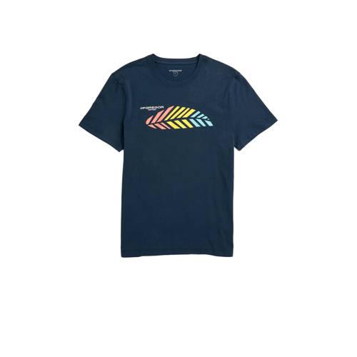 McGregor T-shirt met printopdruk donkerblauw