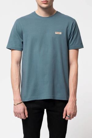 T-shirt van biologisch katoen blauw