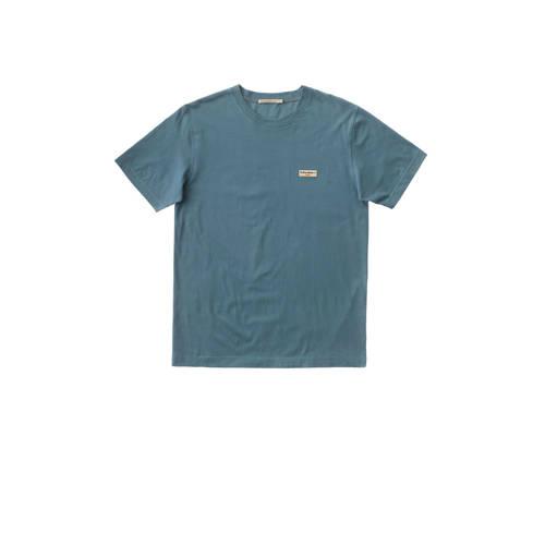 Nudie Jeans T-shirt van biologisch katoen blauw