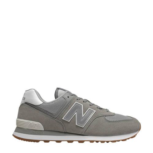 New Balance 574 suede sneakers grijs/zilver