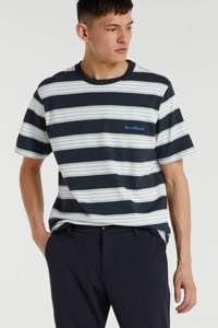 Woodbird gestreept T-shirt navy/mint/white, Navy/Mint/White