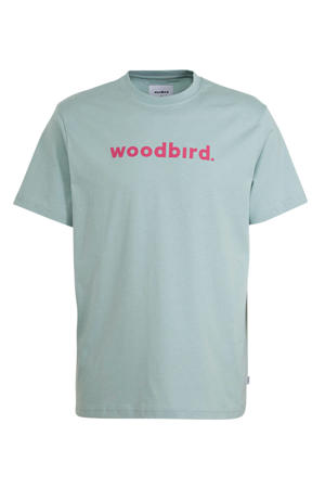 T-shirt met logo mintgroen