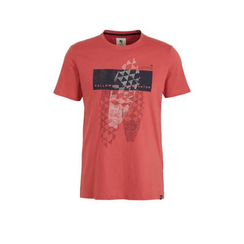 Garcia T-shirt met printopdruk guava