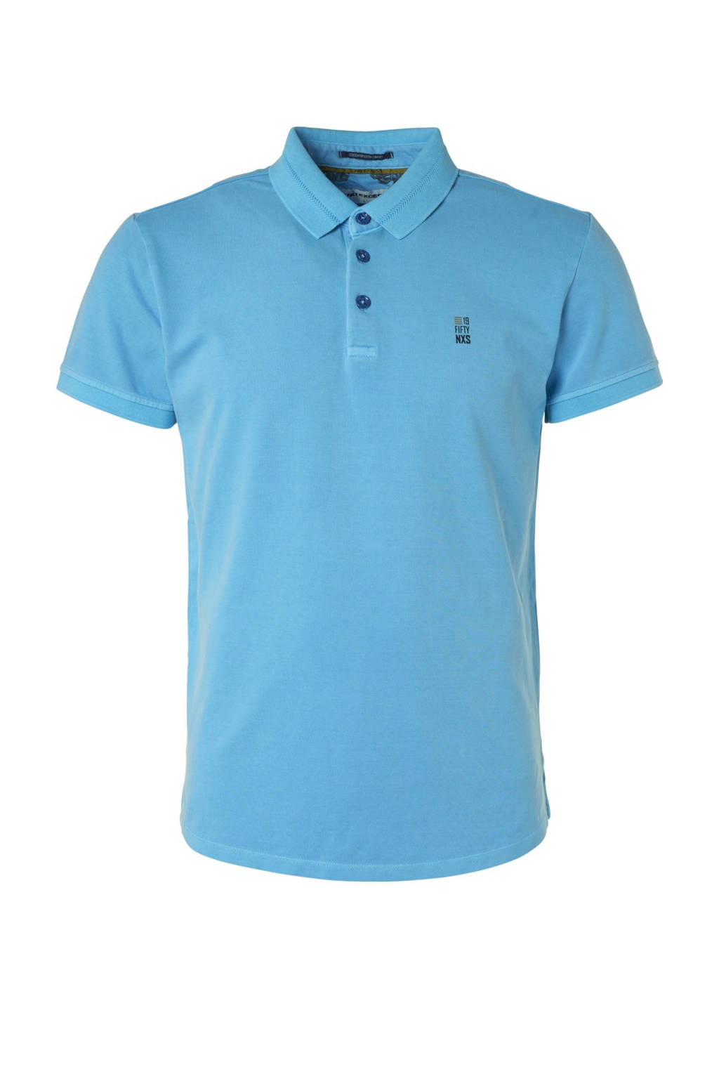 No Excess regular fit polo blauw, Blauw