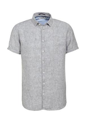 gemêleerd regular fit overhemd 052 dk green