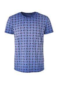 No Excess T-shirt met all over print indigo blue