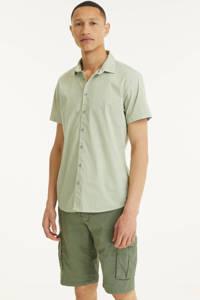 No Excess regular fit overhemd met all over print 055 olive