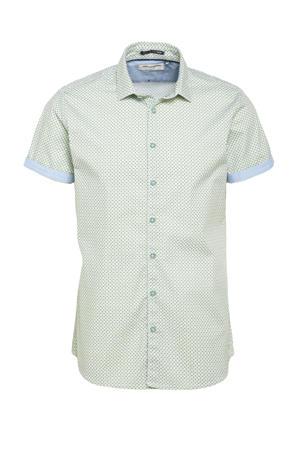 regular fit overhemd met all over print 055 olive