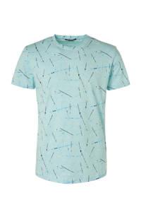 No Excess T-shirt met all over print mintgroen, Mintgroen
