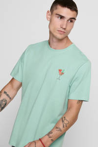 ONLY & SONS T-shirt met printopdruk lichtgroen, Lichtgroen