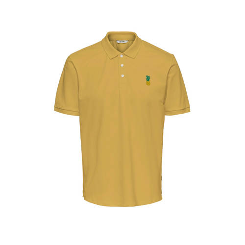 ONLY & SONS regular fit polo met printopdruk m