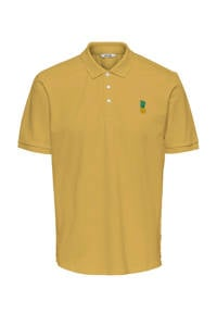 ONLY & SONS regular fit polo met printopdruk misted yellow, Misted Yellow
