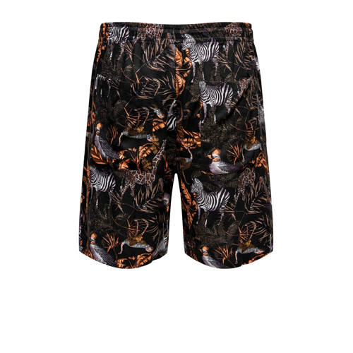 ONLY & SONS regular fit short met bladprint br