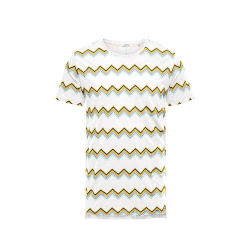 ONLY & SONS T-shirt met all over print wit