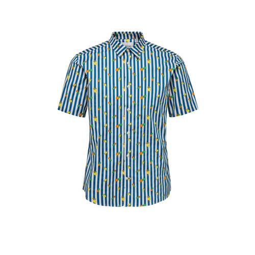 ONLY & SONS slim fit overhemd dark blue