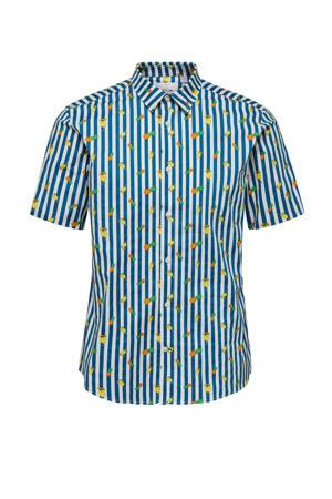 slim fit overhemd dark blue
