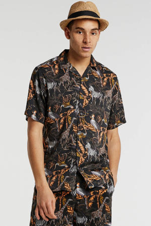 regular fit overhemd bruin