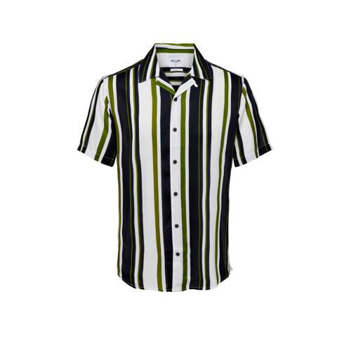 ONLY & SONS gestreept regular fit overhemd gro
