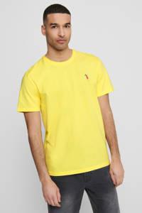 ONLY & SONS T-shirt met printopdruk geel, Geel