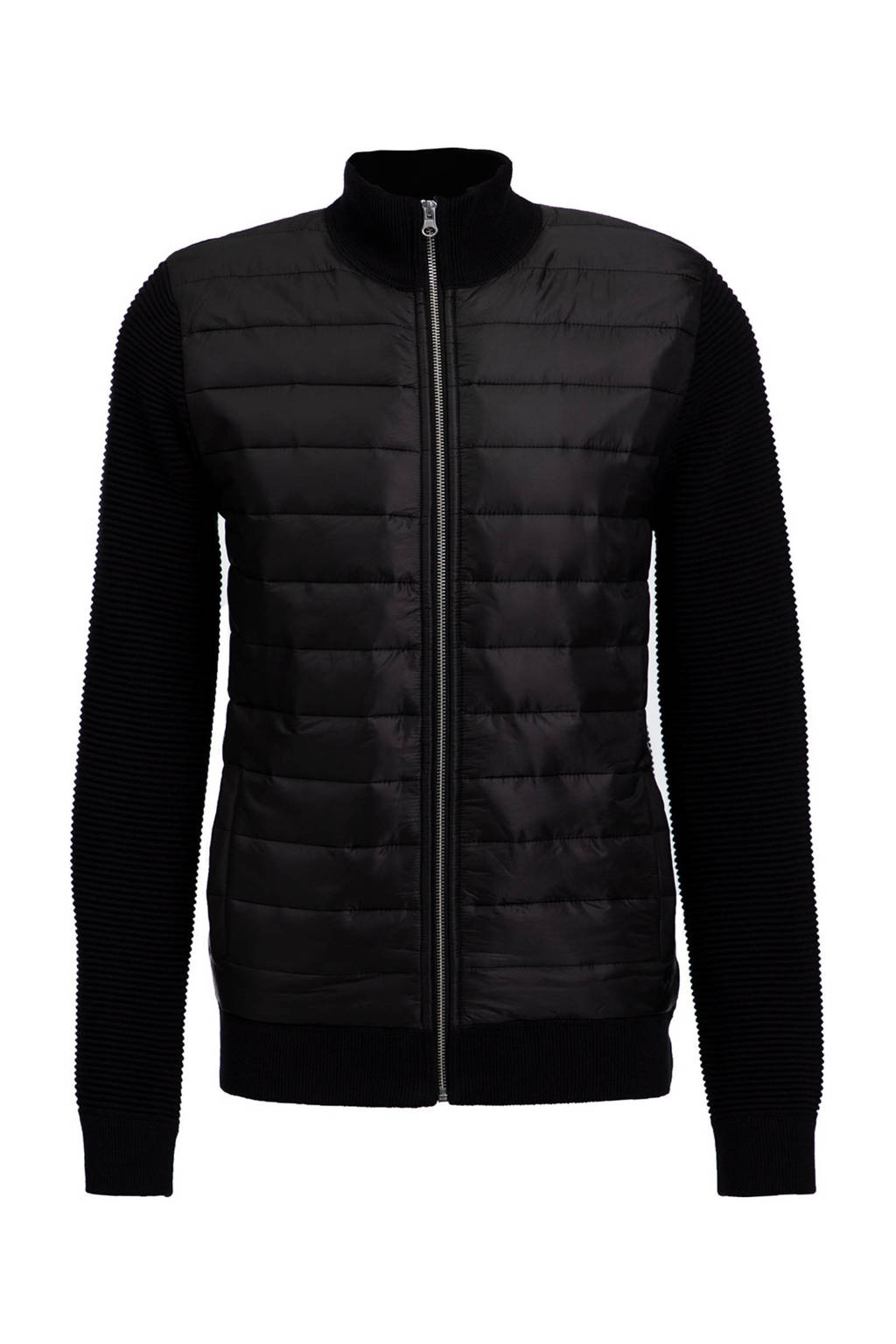 WE Fashion vest zwart, Zwart