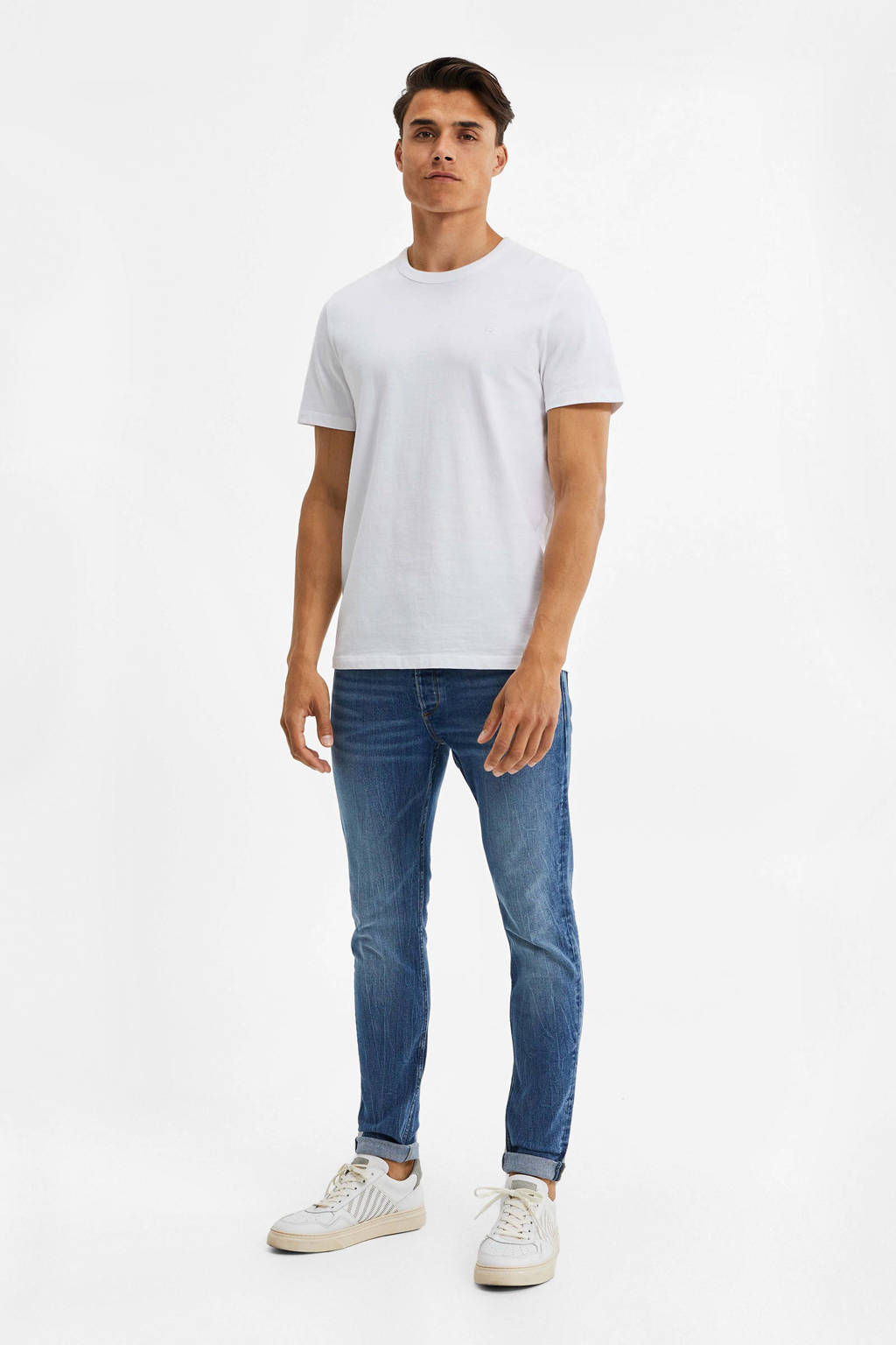 WE Fashion Blue Ridge skinny jeans stonewashed, Stonewashed