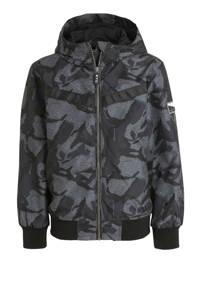 C&A Here & There zomerjas met all over print antraciet/zwart, Antraciet/zwart
