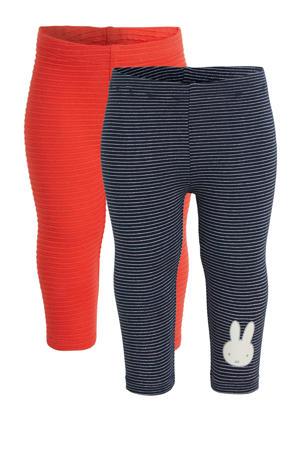 legging nijntje - set van 2 donkerblauw/rood/wit