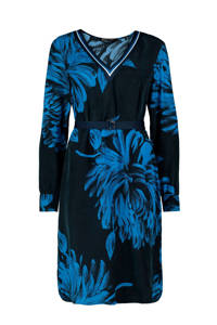 Expresso jurk met all over print donkerblauw, Donkerblauw