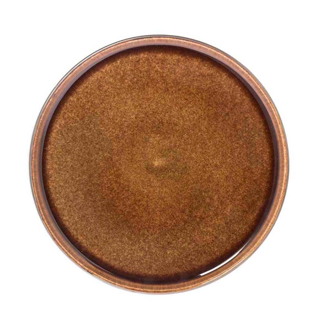 Riverdale dinerbord Nancy (Ø27,9 cm), Bruin