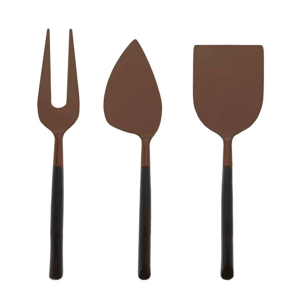 Riverdale kaasbestek Elegance (3-delig), Zwart, bruin
