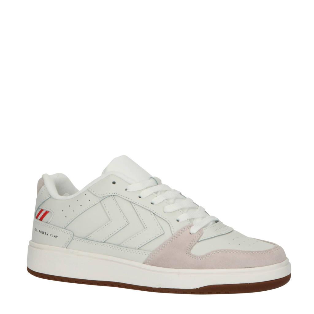 hummel St. Power Play  leren sneakers off white, Off White