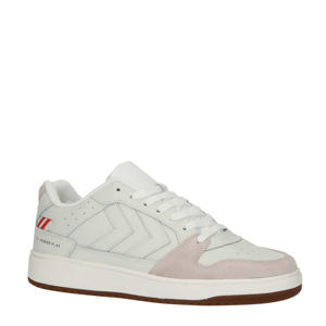 St. Power Play  leren sneakers off white