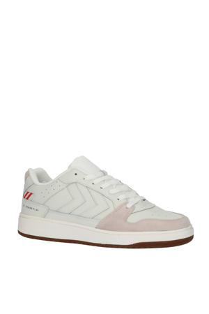 St. Power Play  leren sneakers off white