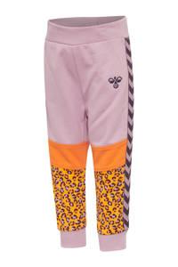 hummel joggingbroek lila/geel, Lila/geel/oranje