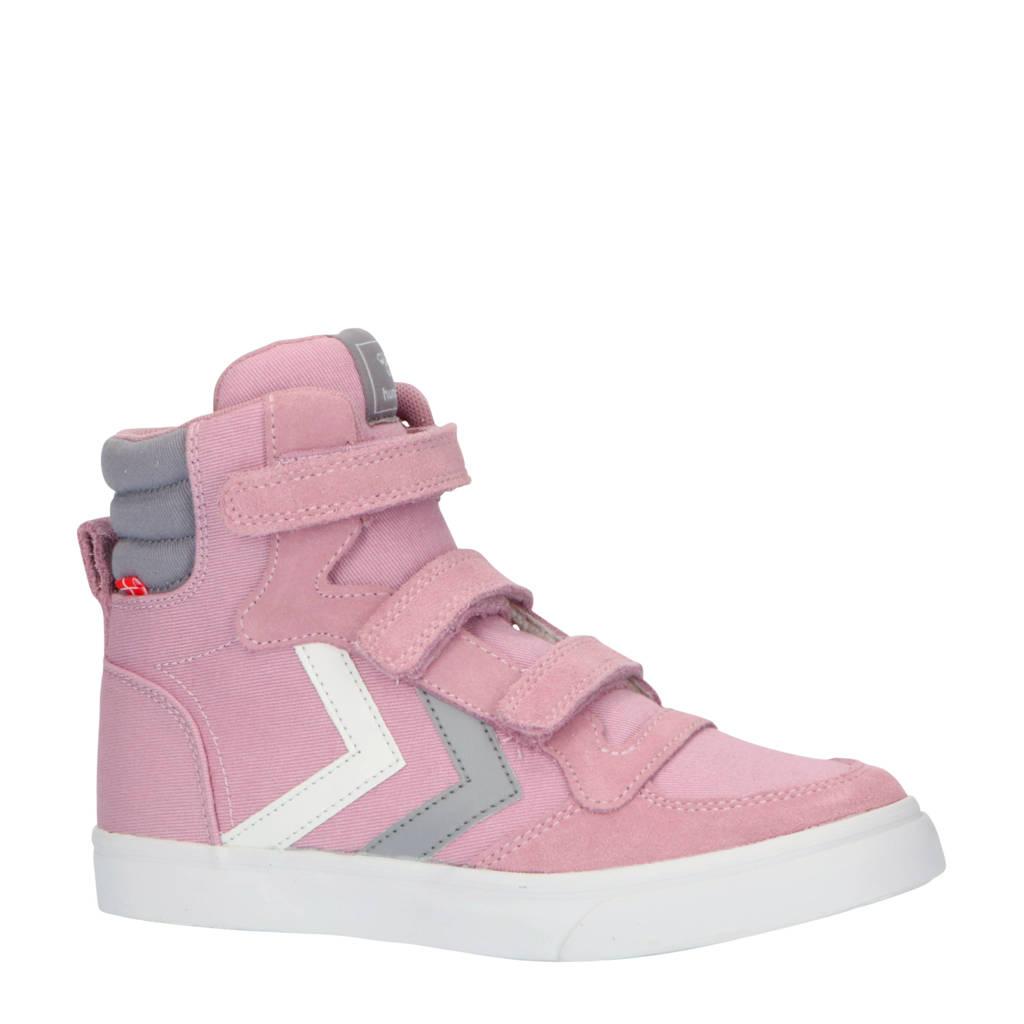 hummel Stadil High Jr.  hoge sneakers roze/grijs, Roze/grijs/wit