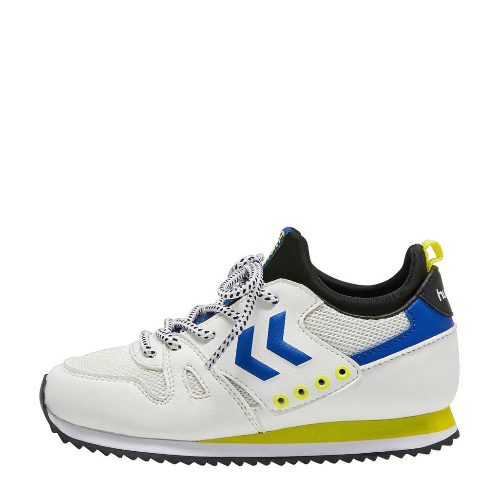 hummel Marathona Sock Jr.  sneakers wit/blauw, Wit/blauw/geel