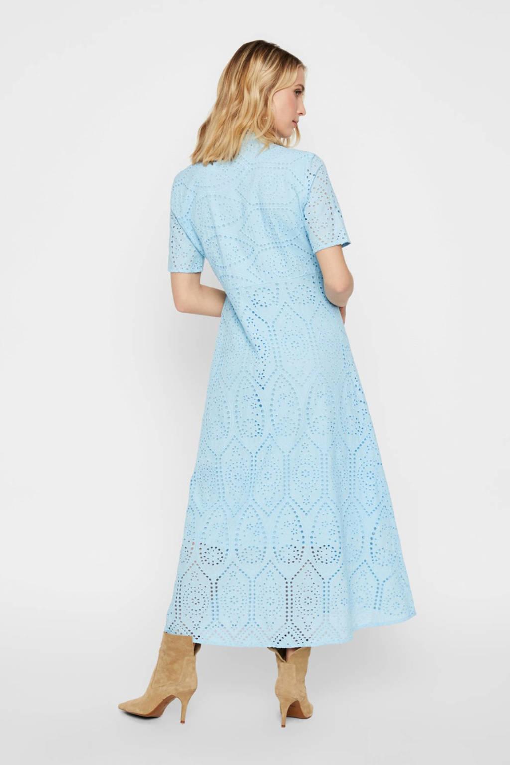Y.A.S jurk met kant lichtblauw, Lichtblauw