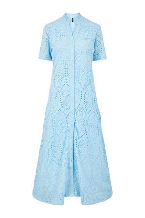jurk met kant lichtblauw